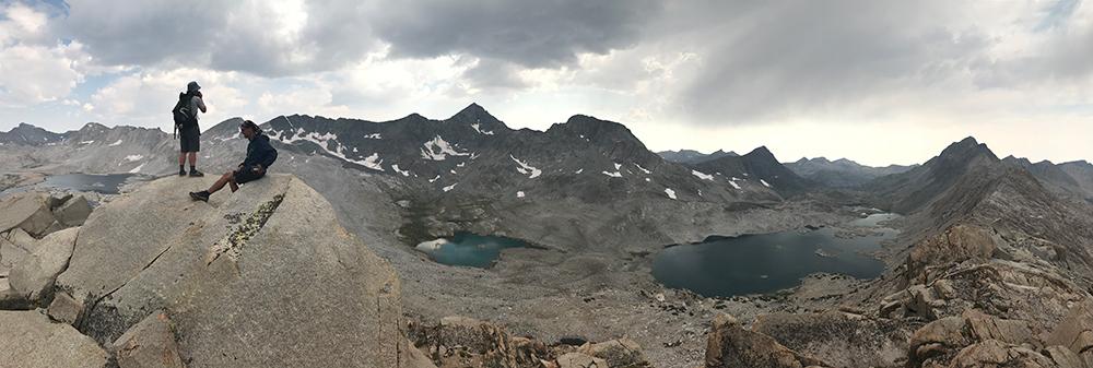 Summit of unnamed peak above Wanda Lake