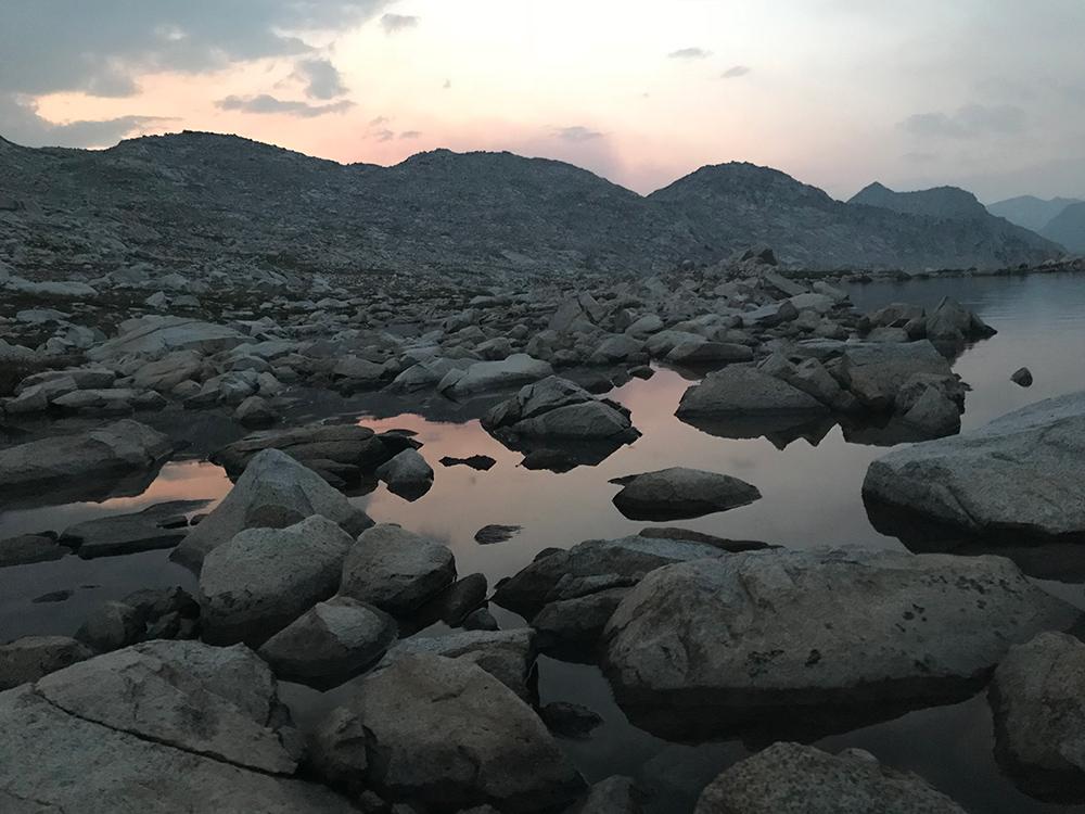 Sunset at Wanda Lake