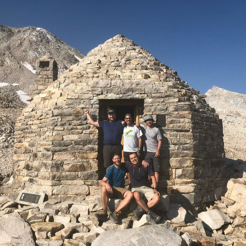 The crew at Muir Hut