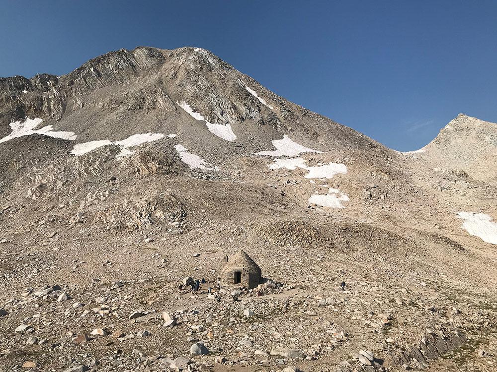 Muir Hut from 12,000'