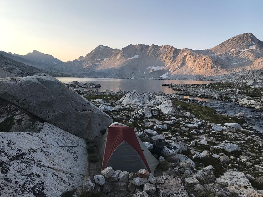 Sunrise at Wanda Lake