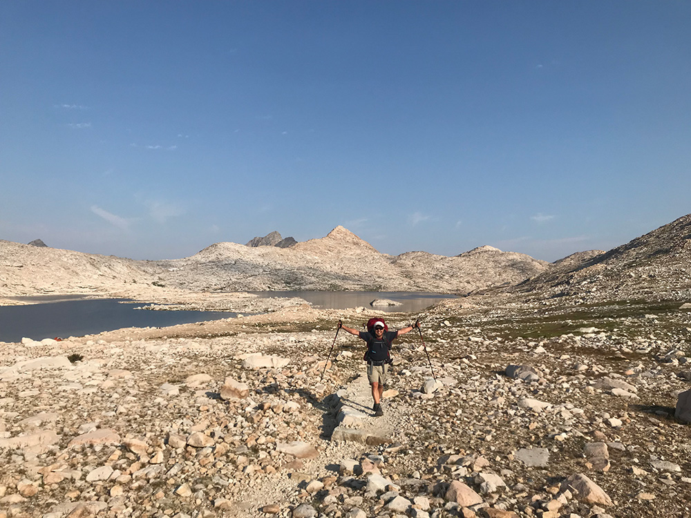 Igor on climb to Muir Pass