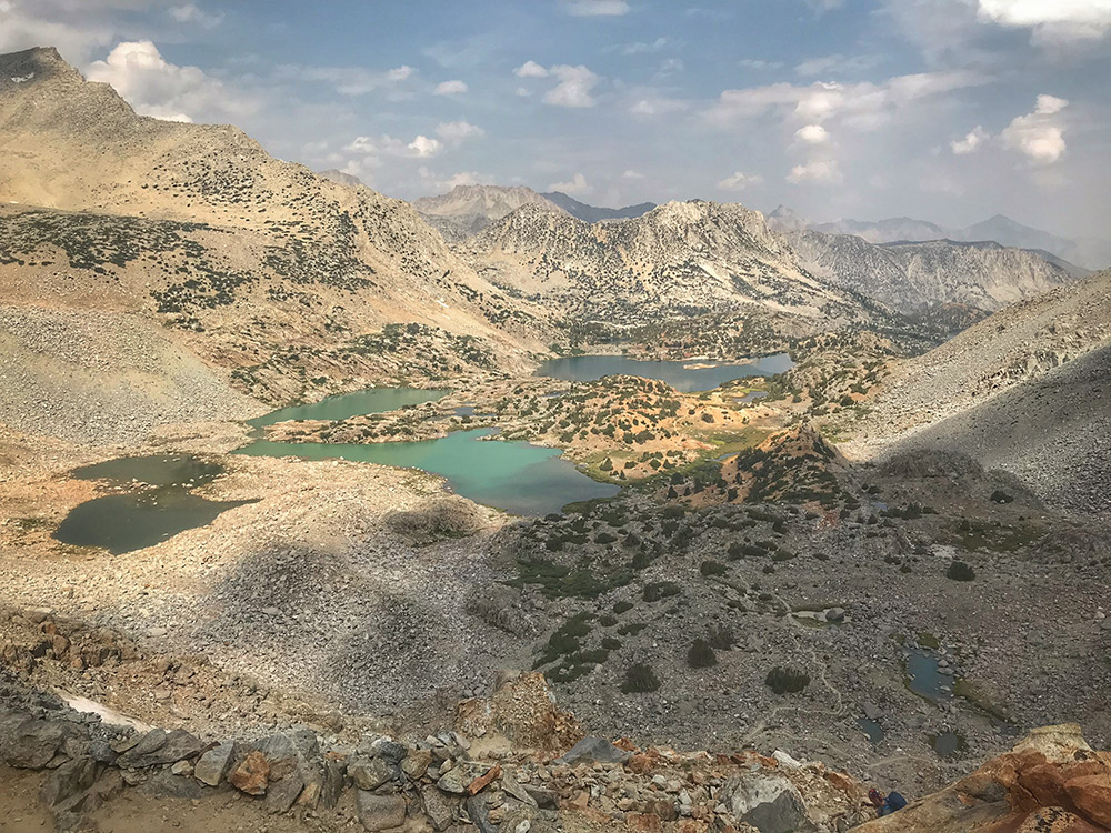 Lakes from Bishop Pass