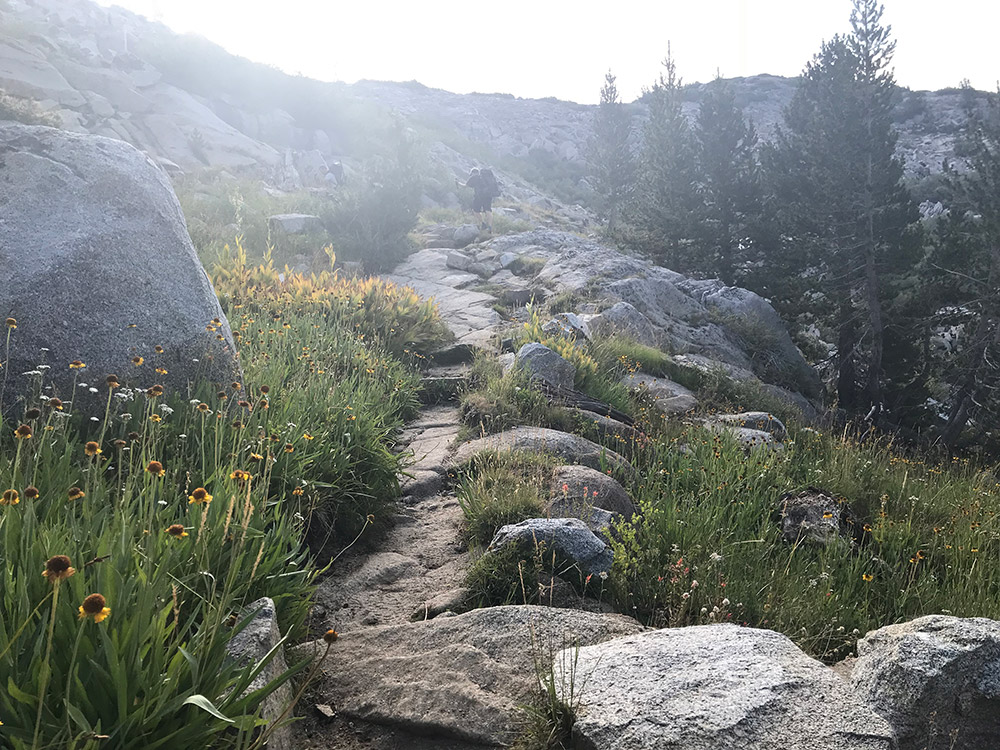 Bishop Pass Trail in Dusy Basin