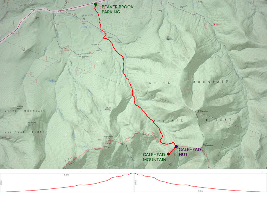Map of Galehead hike
