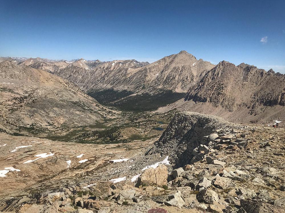 Climbing Forester Pass