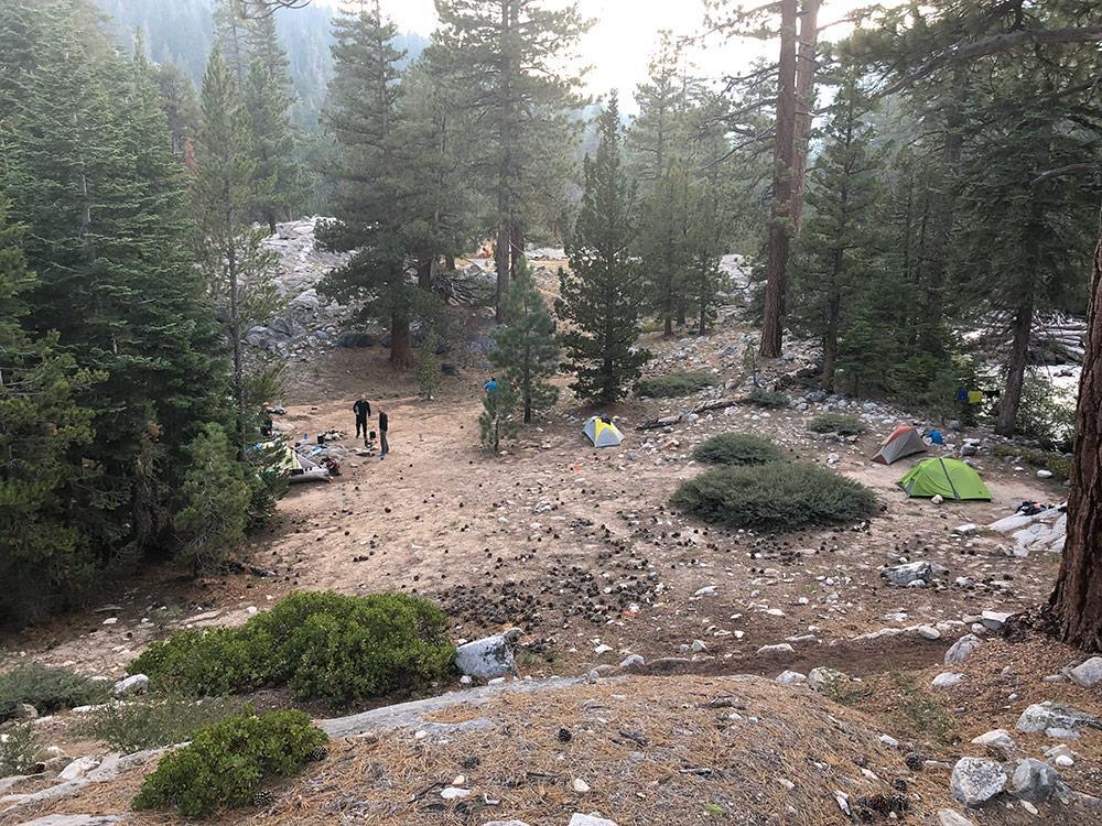 Mono Creek campsite