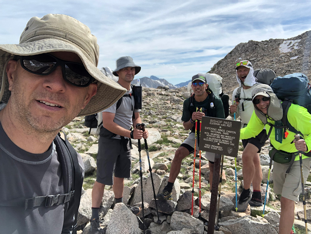 The crew at Bishop Pass